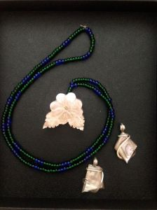 abalone necklace and pendants