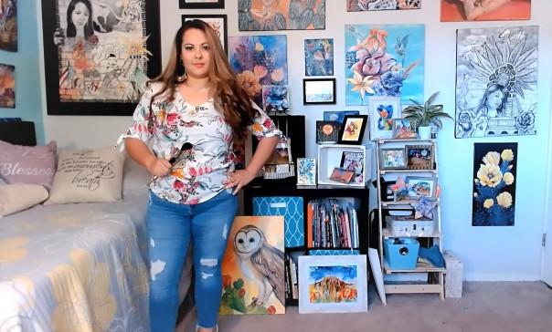 Zoom prep Vanessa in studio